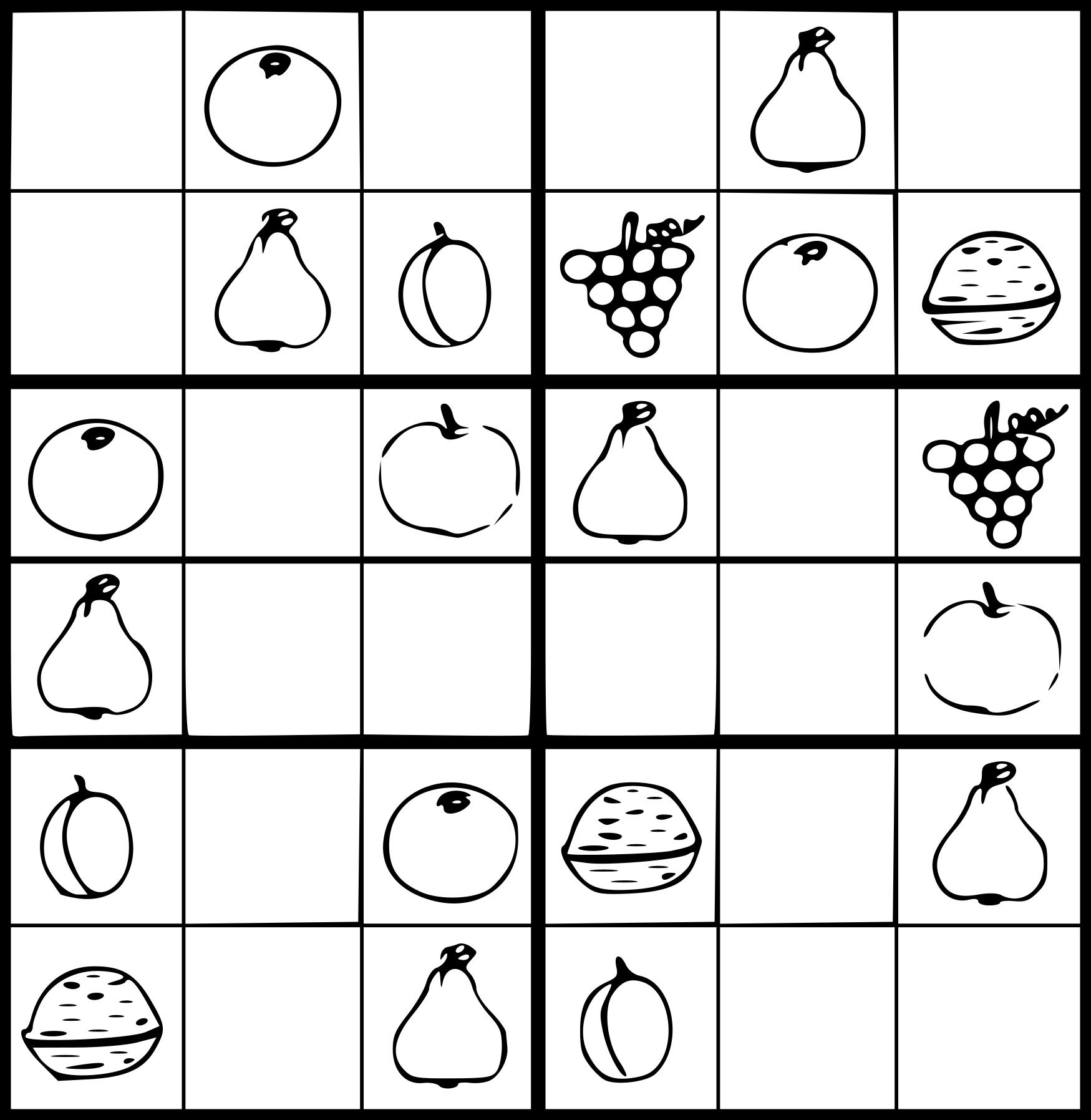 Coloriage Sudoku À Imprimer destiné Sudoku Animaux À Imprimer