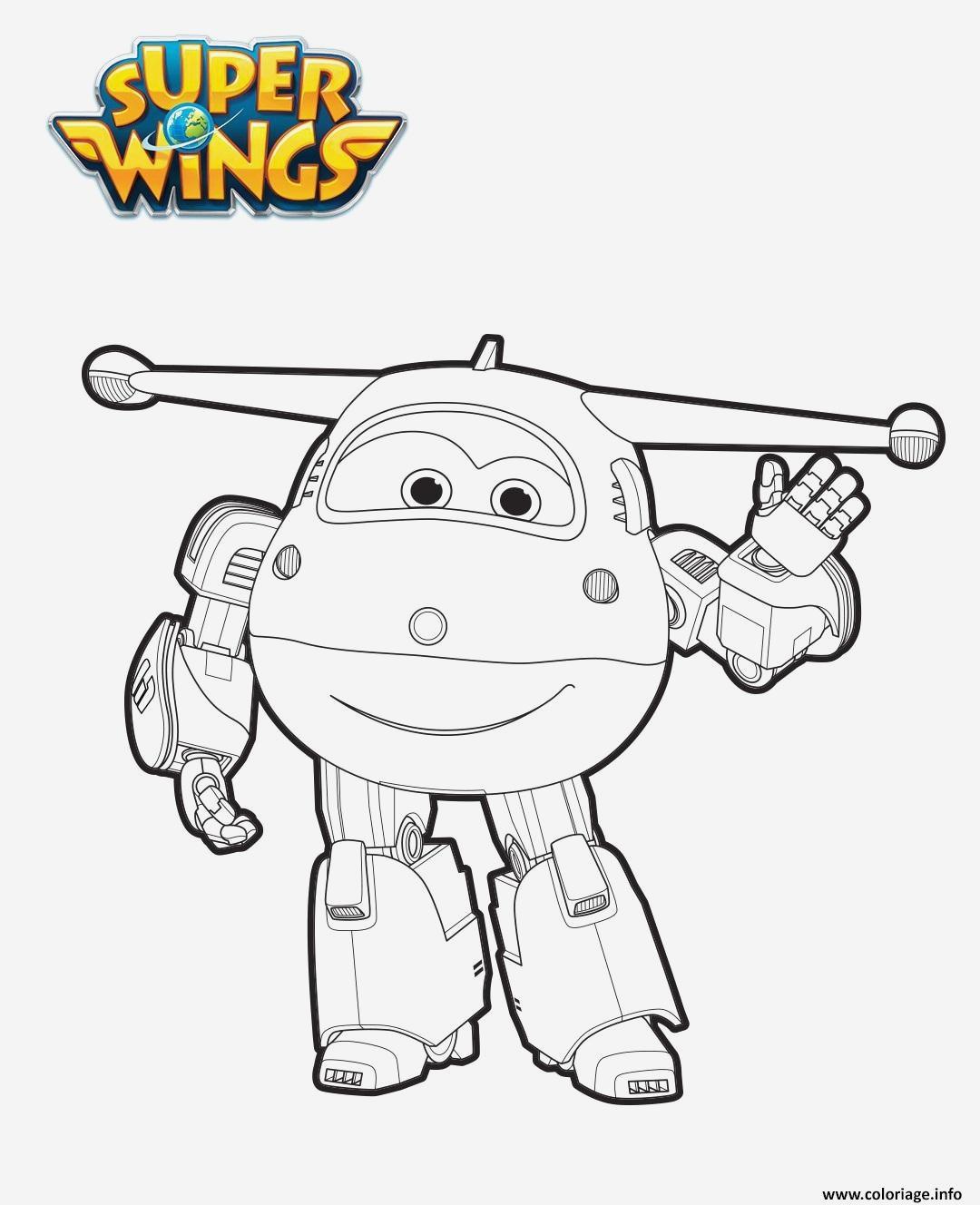Coloriage Super Wings A Imprimer Gratuit - Coloriages Gratuits tout Coloriage Robot À Imprimer