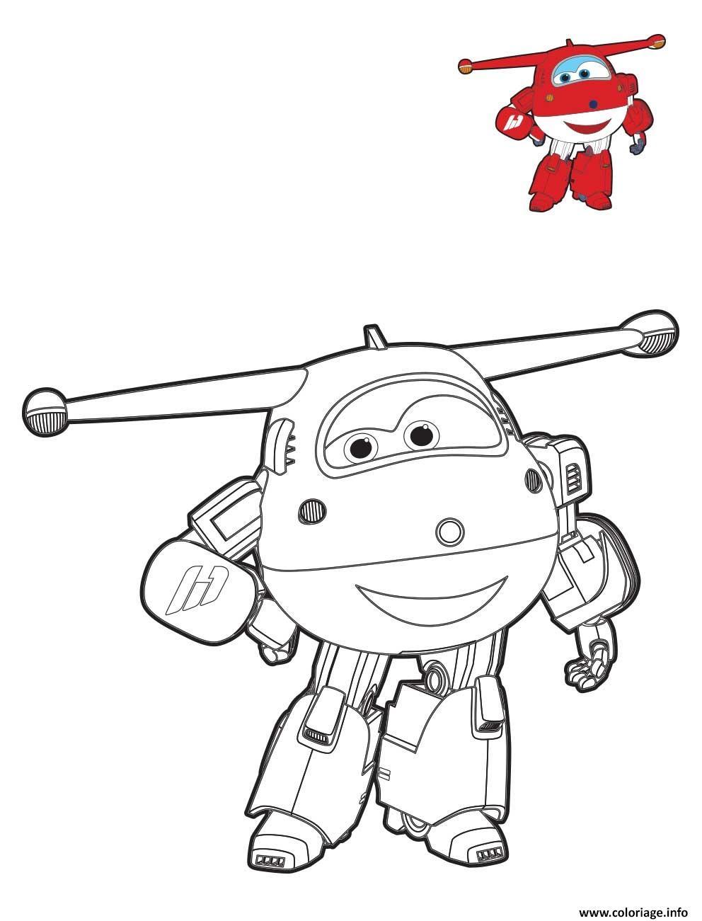 Coloriage Super Wings Jett Robot Dessin tout Coloriage Robot À Imprimer