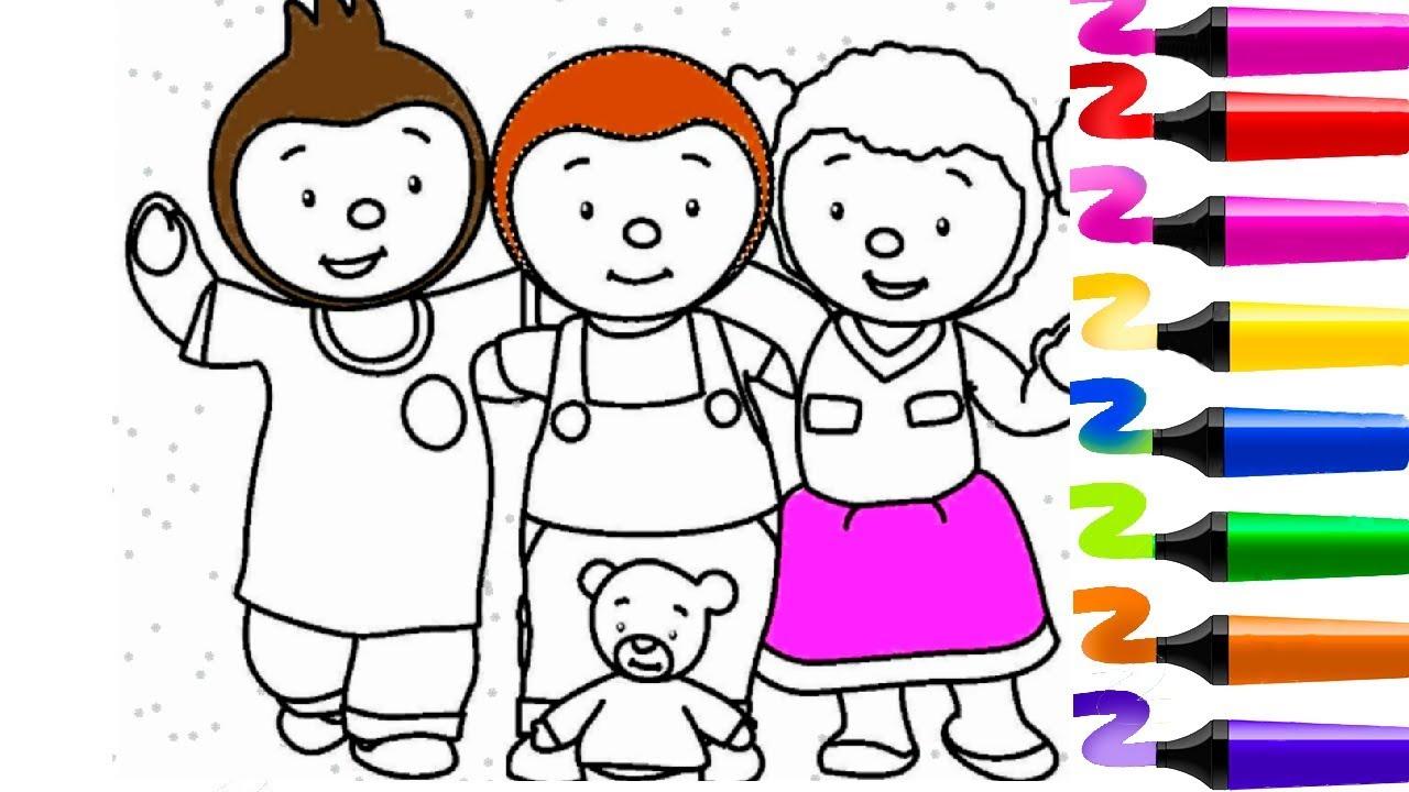 Coloriage Tchoupi Et Ses Amis | Tchoupi A L Ecole | Pas De à Coloriage De Tchoupi Et Doudou