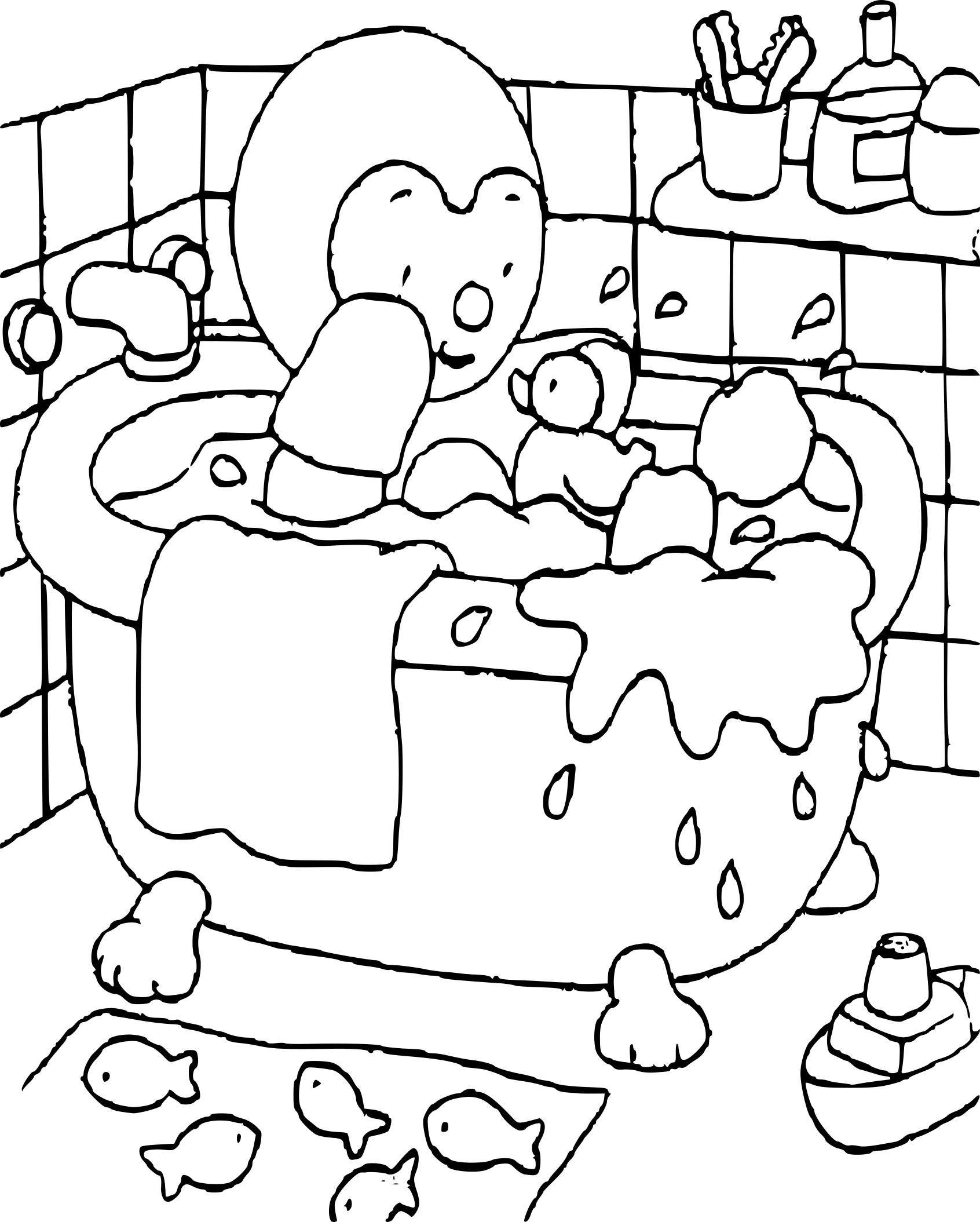 Coloriage Tchoupi Salle De Bain À Imprimer Sur Coloriages avec Coloriage De Tchoupi Et Doudou