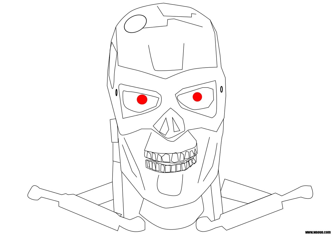 Coloriage Terminator Robot Du Futur À Imprimer Et Colorier intérieur Coloriage Robot À Imprimer