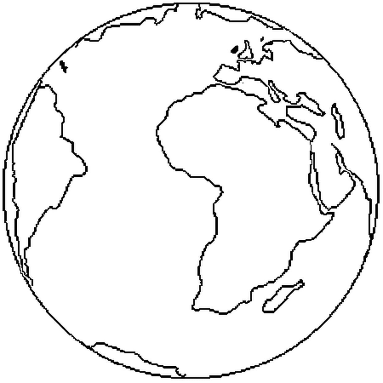 Coloriage Terre En Ligne Gratuit À Imprimer destiné Image De La Terre Dessin