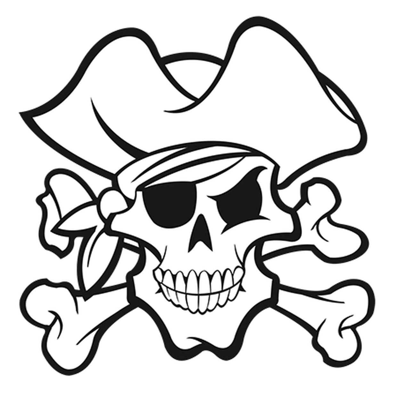 Coloriage Tête De Mort Pirate En Ligne Gratuit À Imprimer destiné Dessin A Imprimer De Pirate