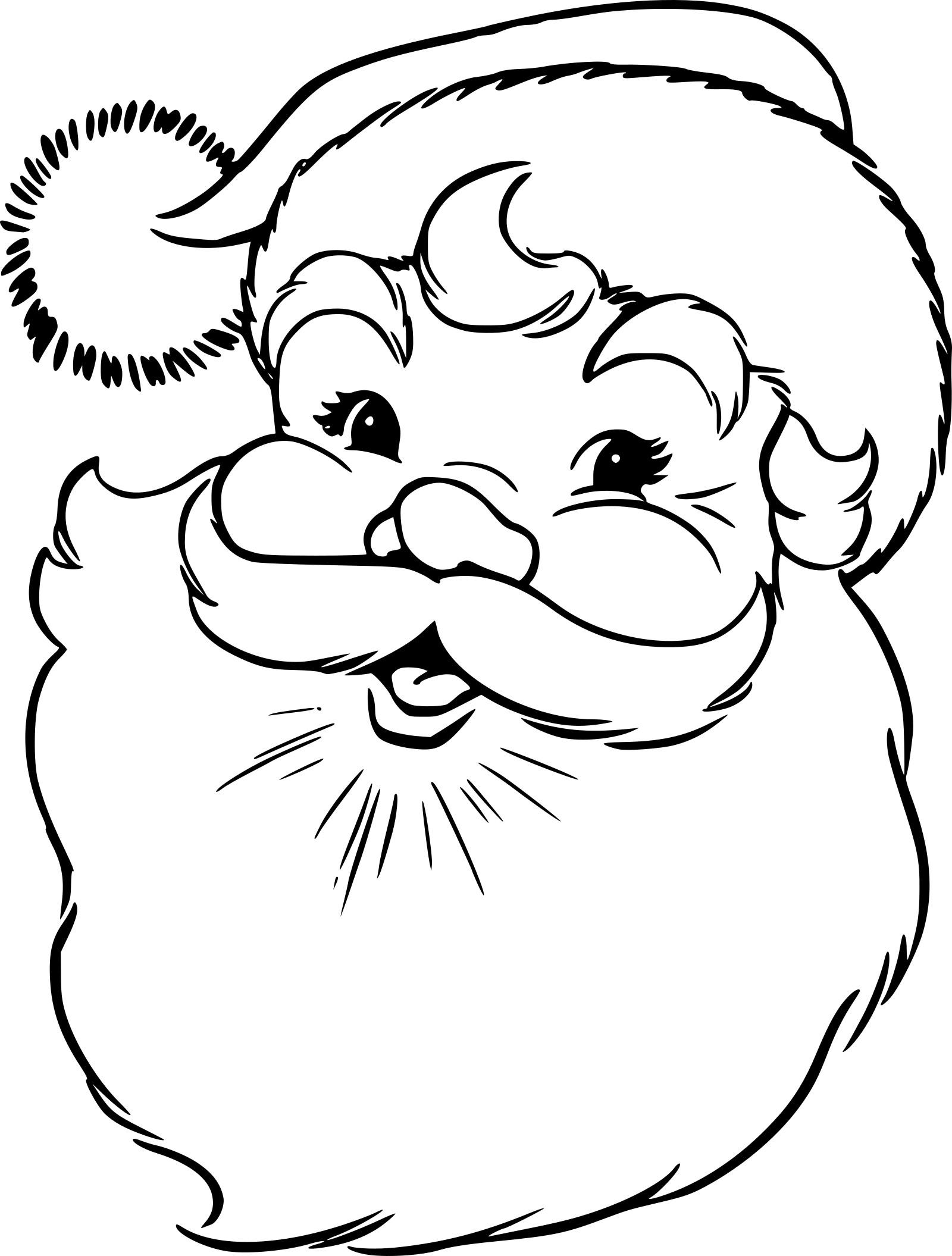 Coloriage Tête Père Noël À Imprimer Sur Coloriages pour Coloriage De Père Noel Gratuit A Imprimer