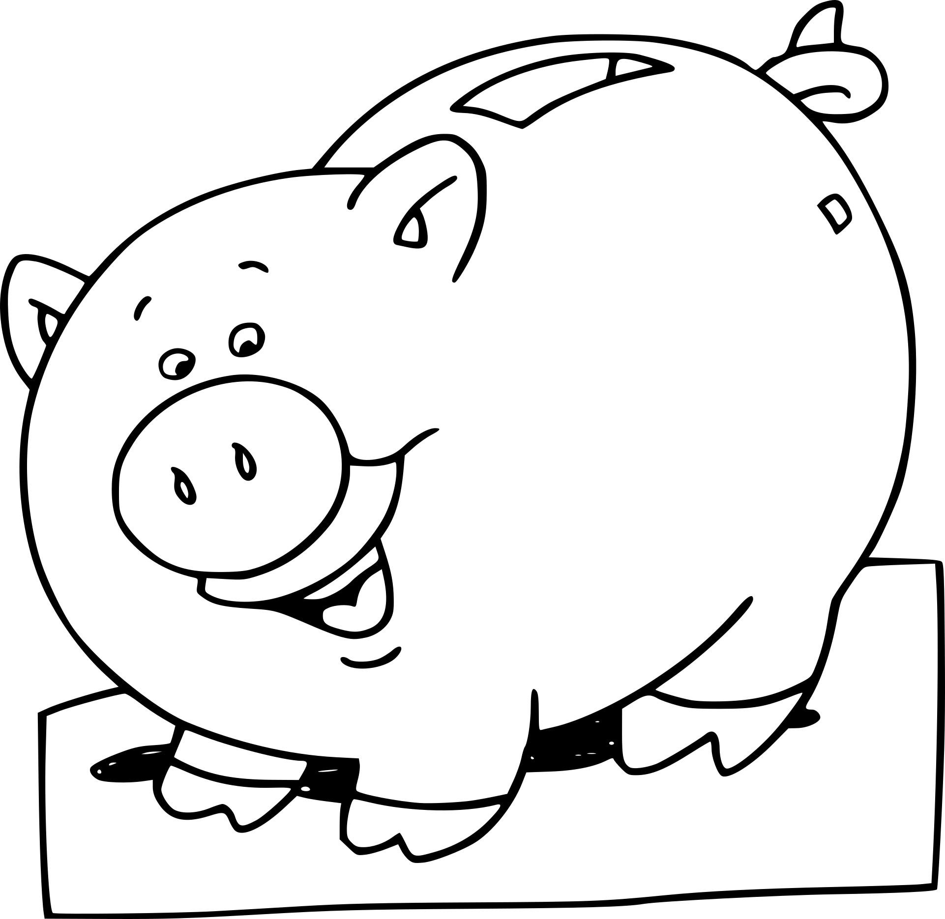 Coloriage Tirelire À Imprimer Sur Coloriages dedans Dessin A Colorier Cochon