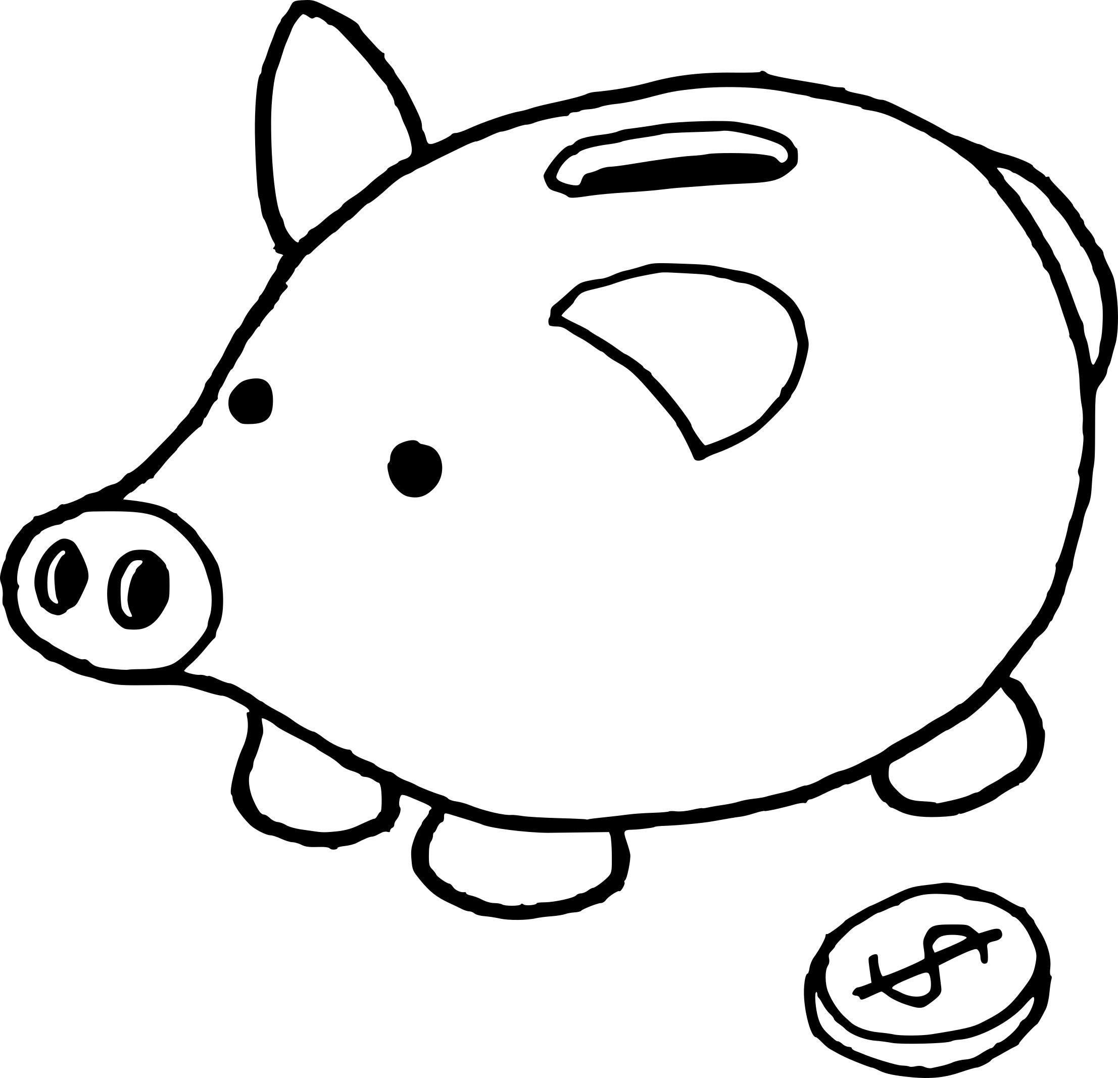 Coloriage Tirelire Dessin À Imprimer Sur Coloriages Avec destiné Dessin Cochon A Colorier
