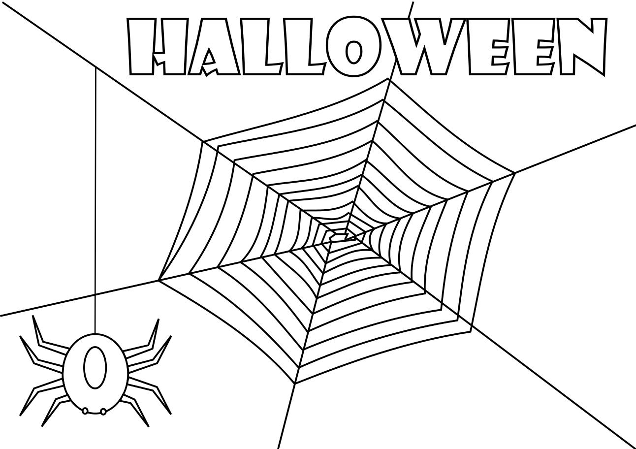 Coloriage Toile D'araignée À Imprimer Et Colorier encequiconcerne Dessin Toile Araignée