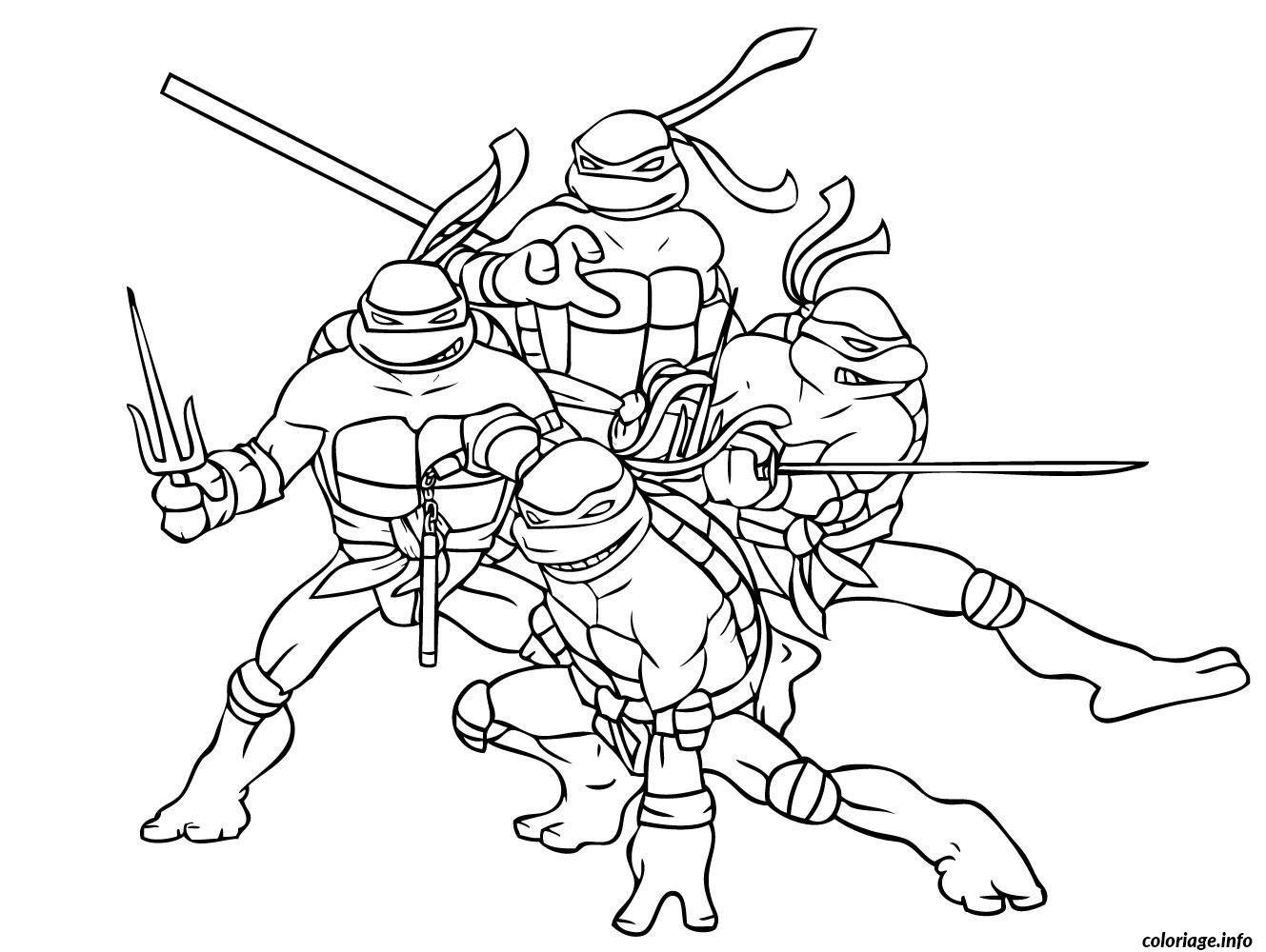 Coloriage Tortue Ninja 6 Dessin À Imprimer | Coloriage destiné Dessin De Tortue Ninja