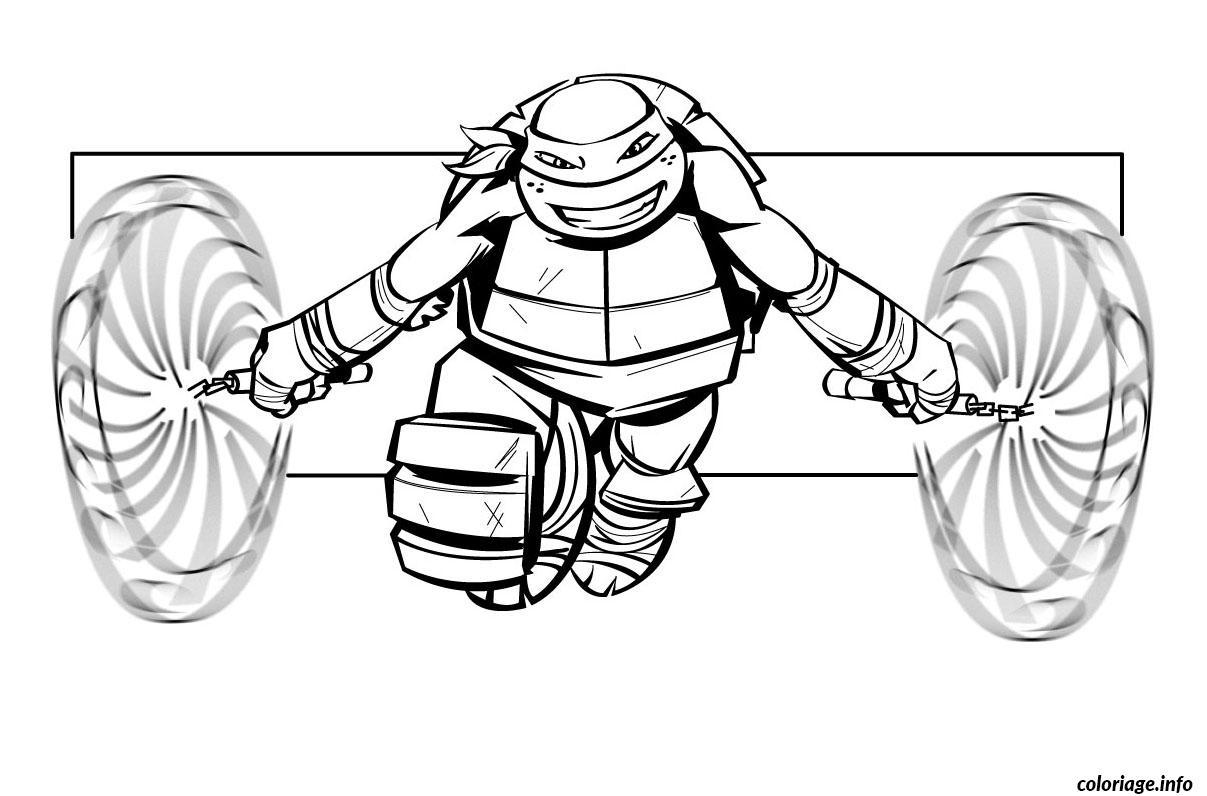 Coloriage Tortue Ninja 9 Dessin concernant Dessin De Tortue Ninja