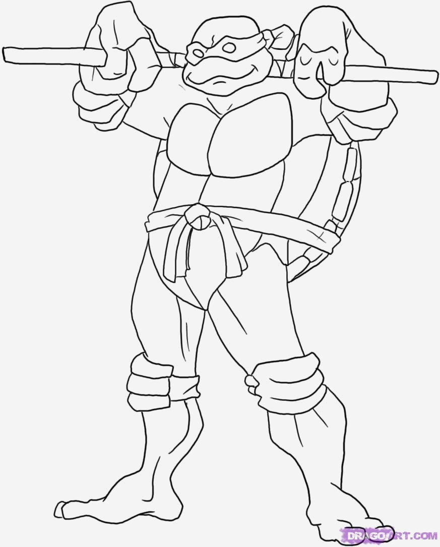 Coloriage Tortue Ninja À Imprimer Gratuit - Coloriages Gratuits à Dessin De Tortue Ninja