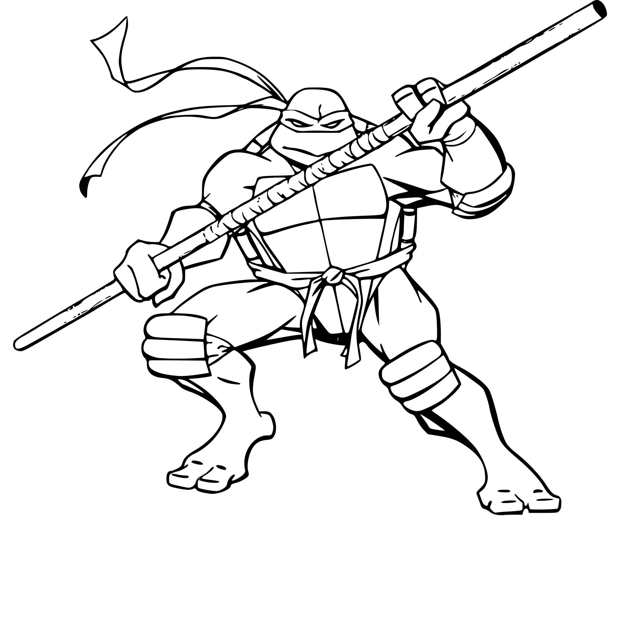 Coloriage Tortue Ninja Donatello À Imprimer Sur Coloriages pour Dessin De Tortue Ninja