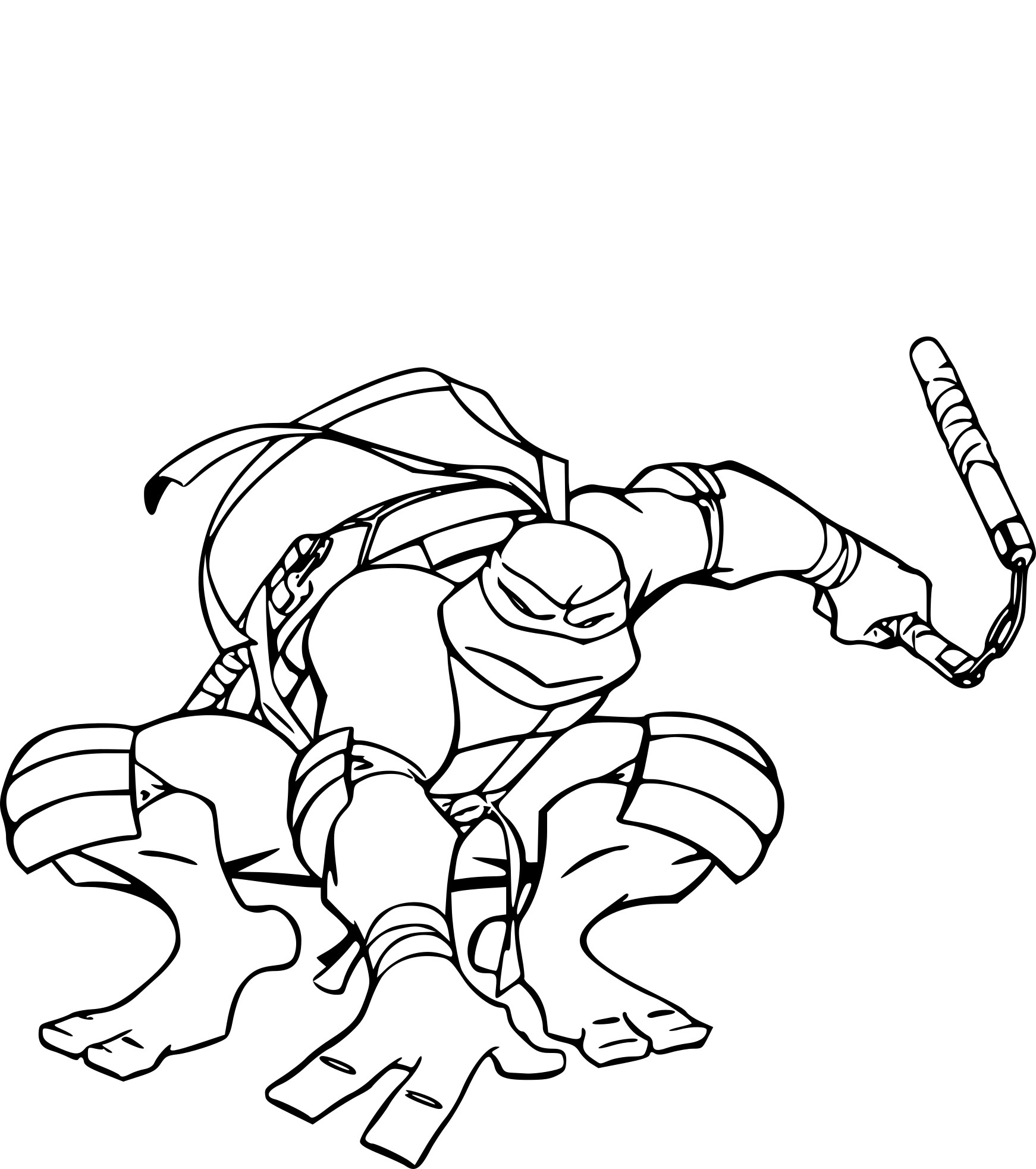 Coloriage Tortue Ninja Michelangelo À Imprimer Sur avec Dessin De Tortue Ninja