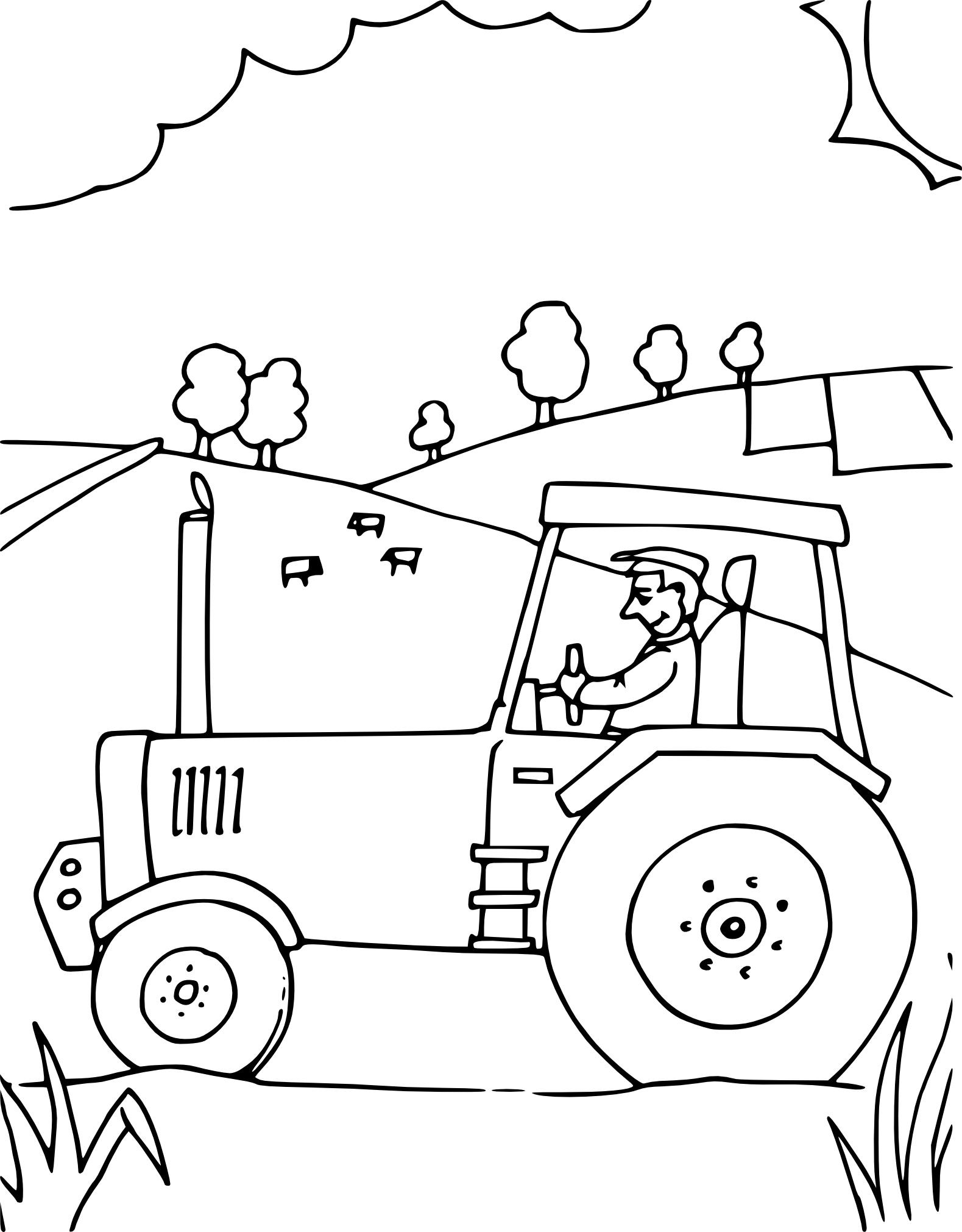 Coloriage Tracteur À Imprimer Sur Coloriages destiné Tracteur À Colorier
