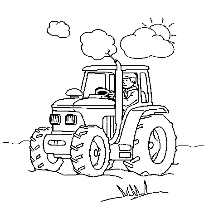Coloriage Tracteur En Ligne Gratuit À Imprimer intérieur Tracteur À Colorier