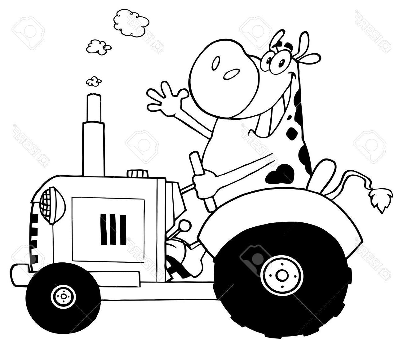 Coloriage Tracteur Et Vache - 1001 Animaux tout Tracteur À Colorier