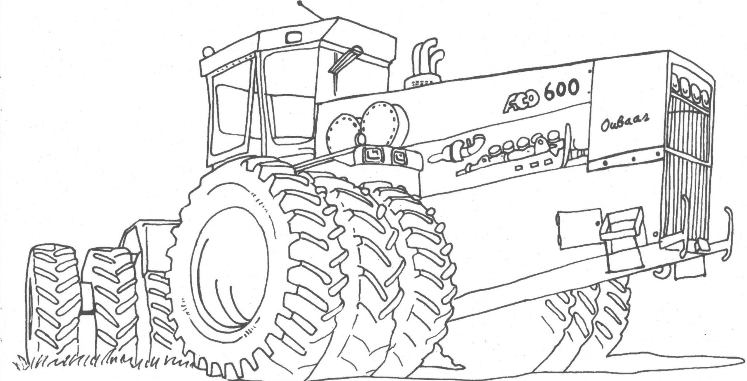 Coloriage Tracteur - Les Beaux Dessins De Transport À encequiconcerne Tracteur À Colorier