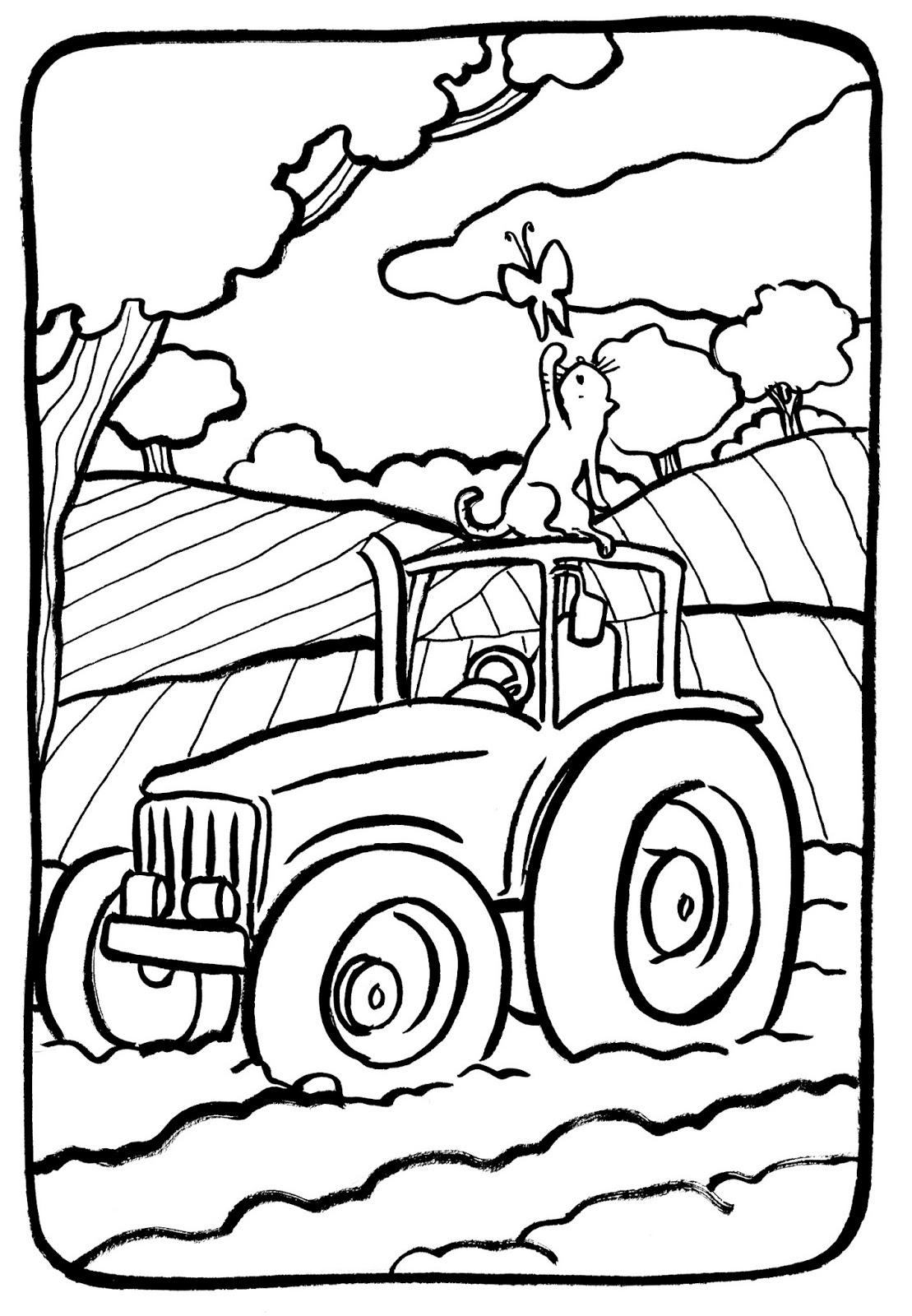 Coloriage Tracteur - Les Beaux Dessins De Transport À intérieur Tracteur À Colorier