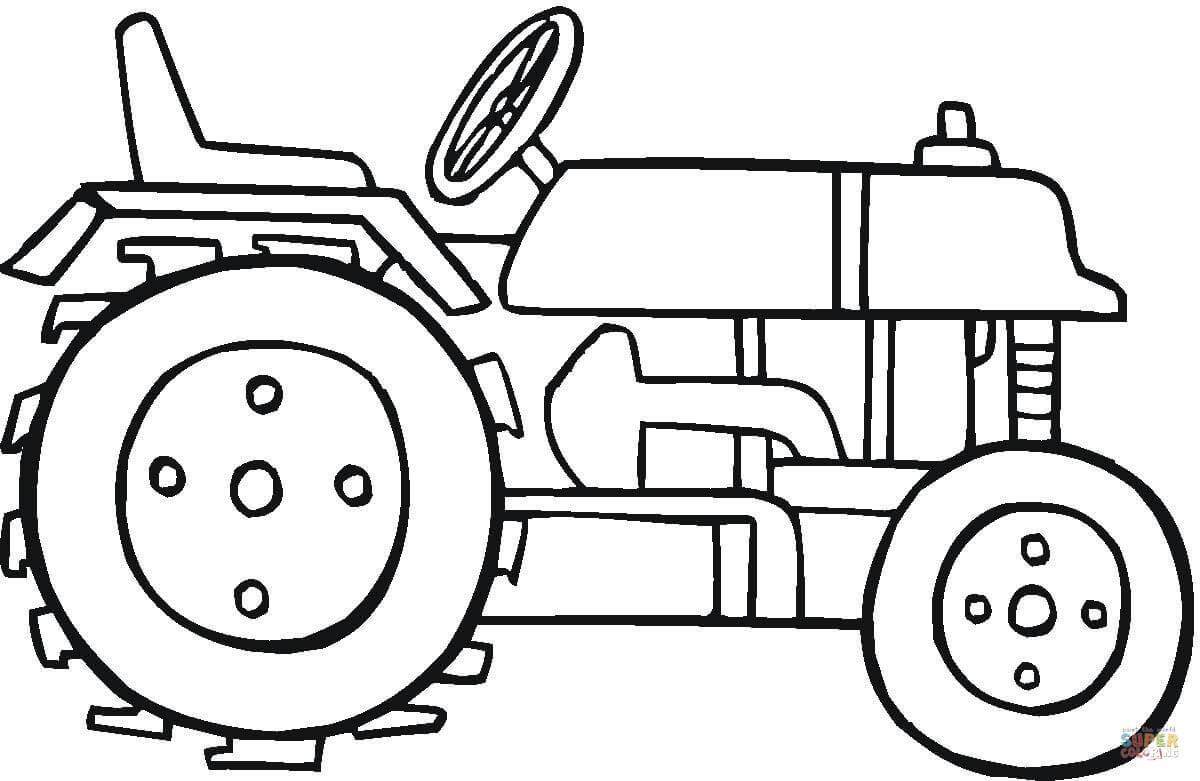 Coloriage - Tracteur Moderne | Coloriages À Imprimer Gratuits dedans Tracteur À Colorier