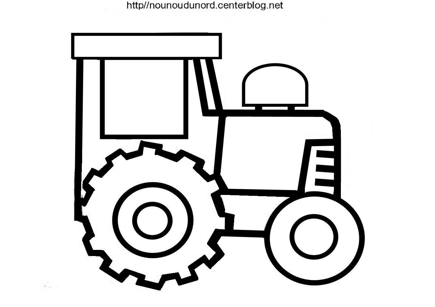 Coloriage Tracteur Réalisé Par Nounoudunord. encequiconcerne Tracteur À Colorier
