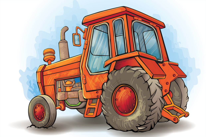 Coloriage Tracteur Sur Hugolescargot tout Dessin De Tracteur À Colorier