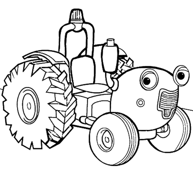 Coloriage Tracteur Tom En Ligne Gratuit À Imprimer à Tracteur À Colorier