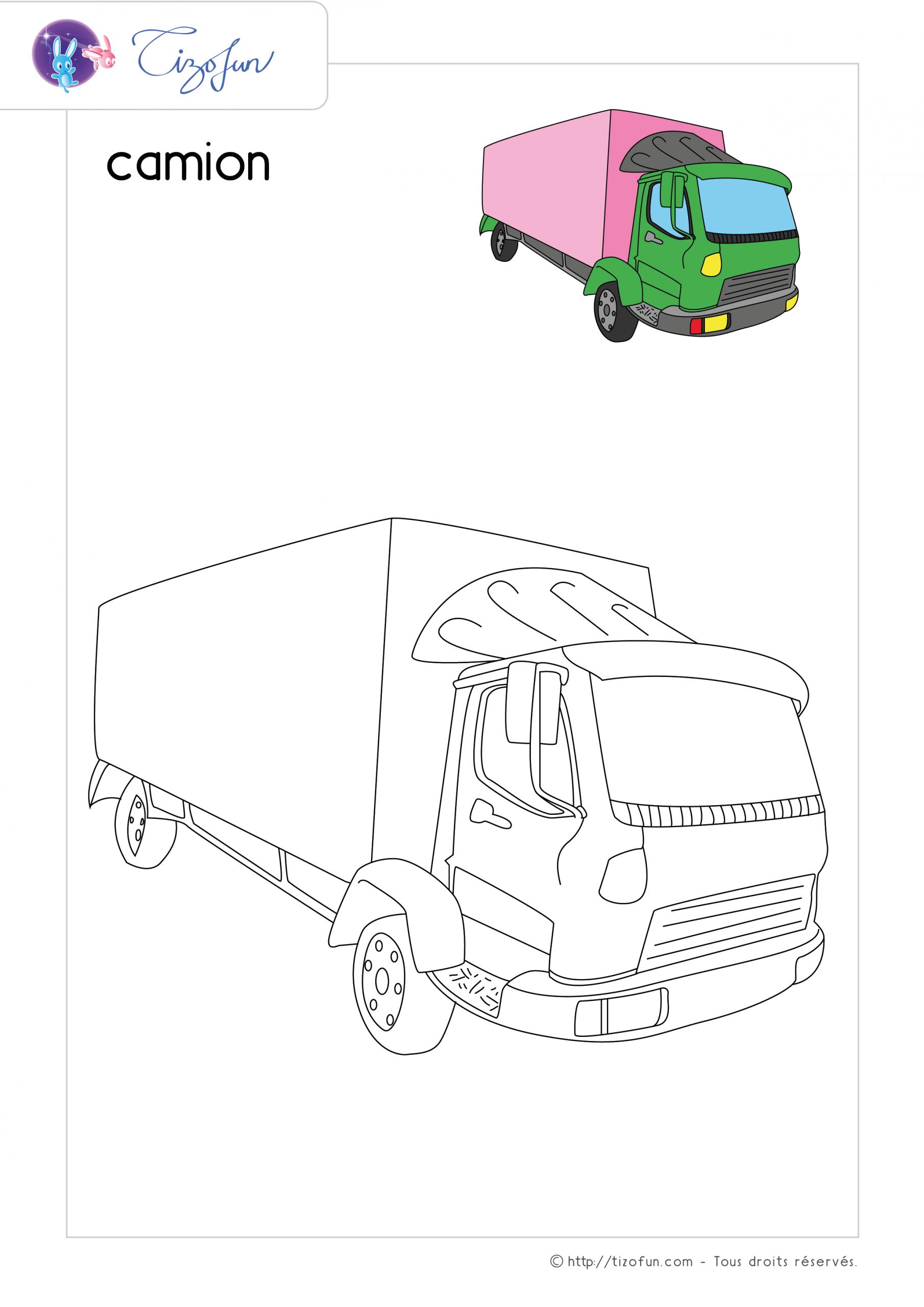 Coloriage-Transport-Dessin-Camion | Dessin Camion De Pompier dedans Dessin D Un Camion