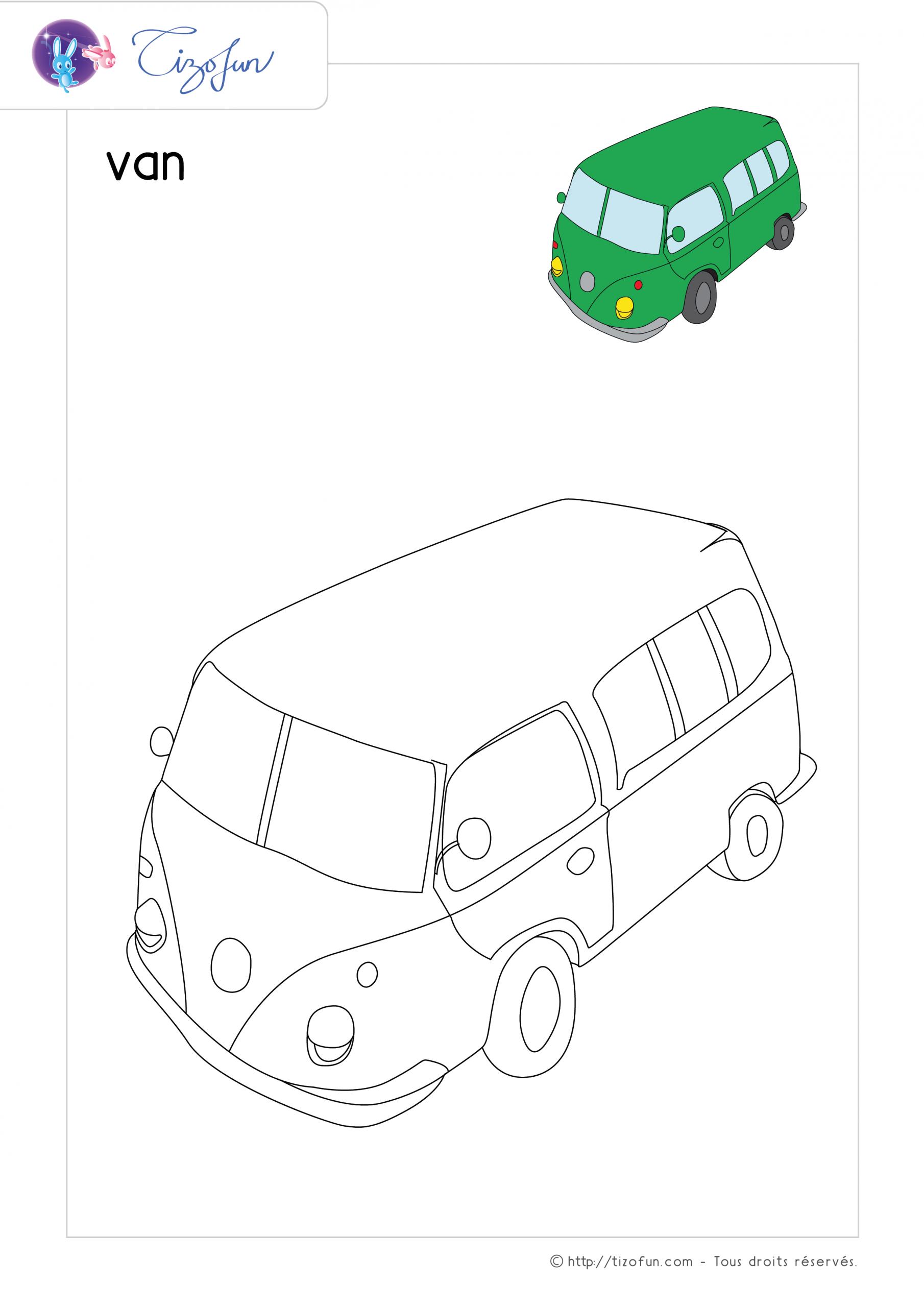 Coloriage-Transport-Dessin-Van | Coloriage À Imprimer dedans Coloriage Aspirateur
