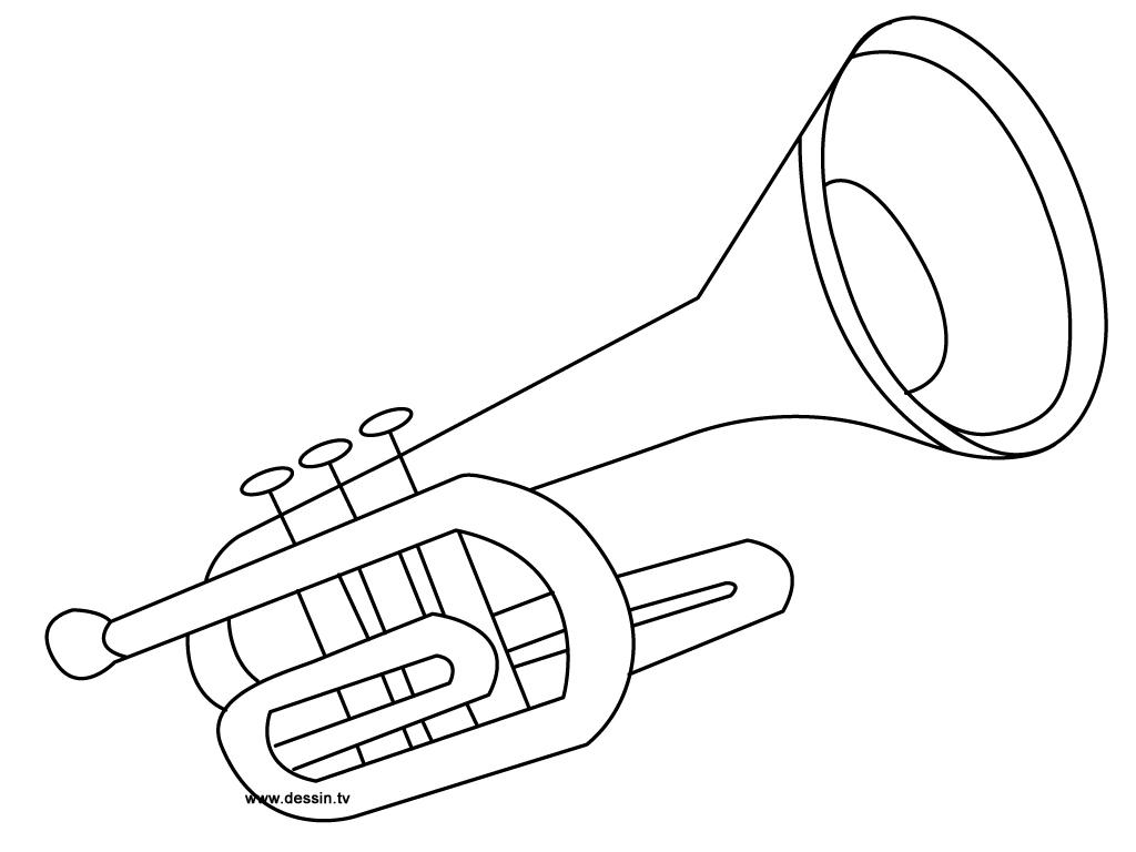 Coloriage Trompette tout Trompette À Colorier