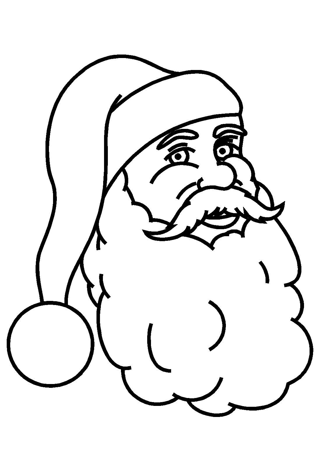 Coloriage Visage Père Noël À Imprimer serapportantà Coloriage De Père Noel Gratuit A Imprimer