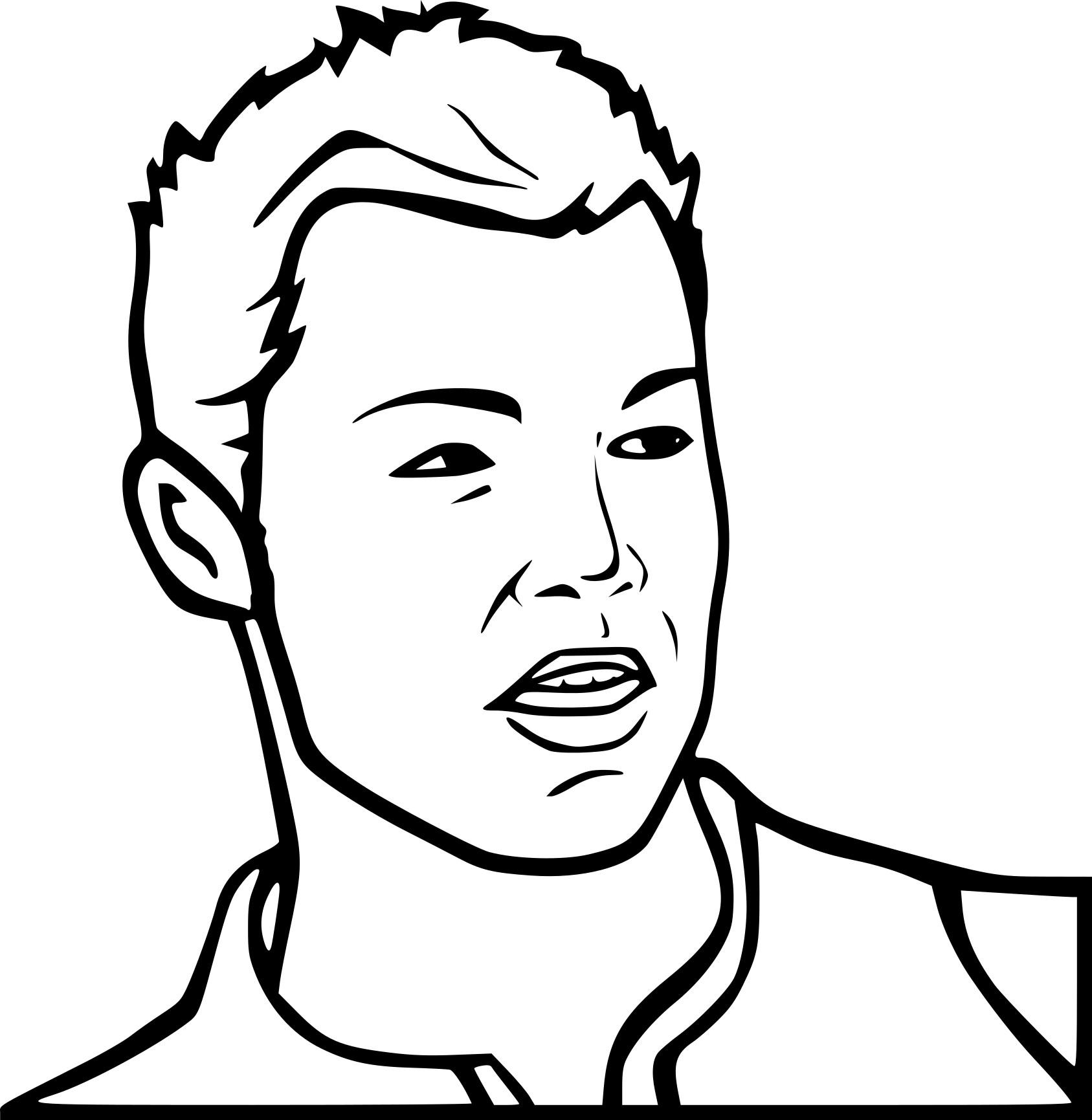 Coloriage Visage Ronaldo À Imprimer Sur Coloriages tout Visage À Colorier