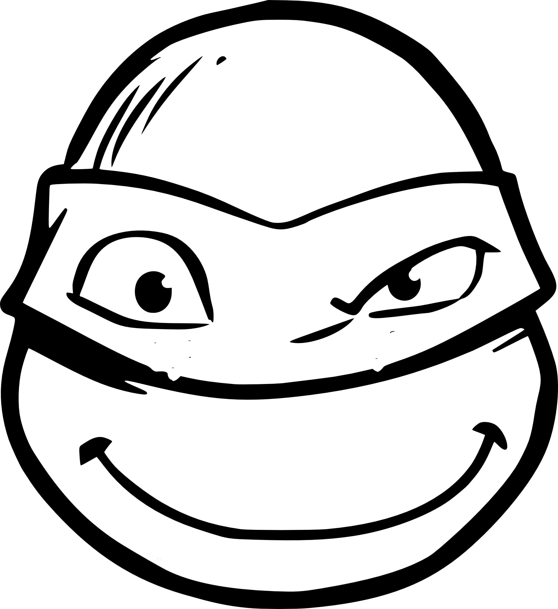 Coloriage Visage Tortue Ninja À Imprimer pour Dessin De Tortue Ninja