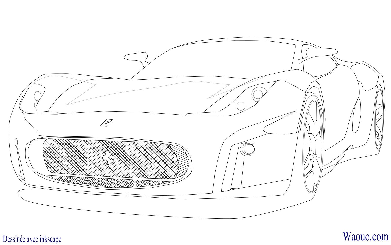 Coloriage Voiture Bmw À Imprimer Et Colorier encequiconcerne Ferrari A Colorier