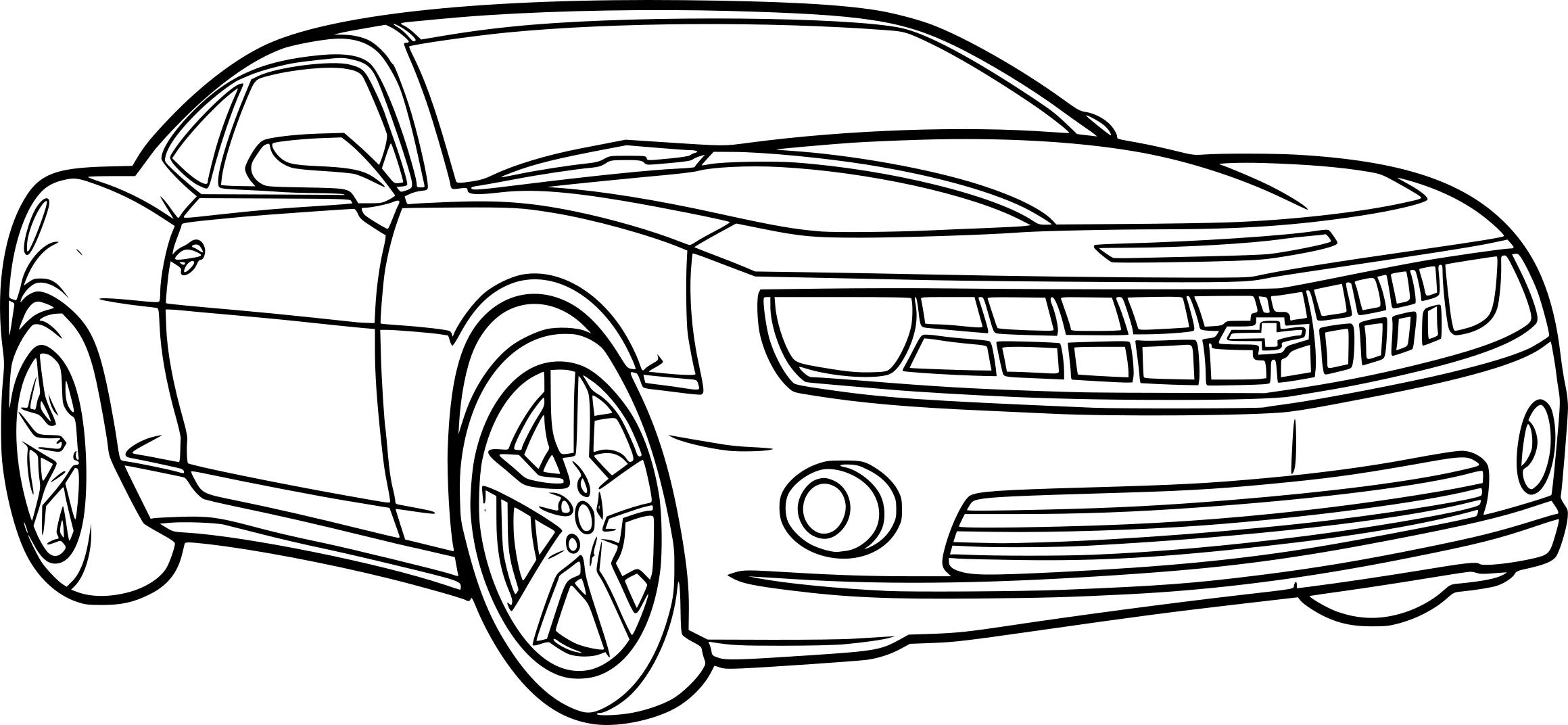 Coloriage Voiture Camaro À Imprimer dedans Ferrari A Colorier