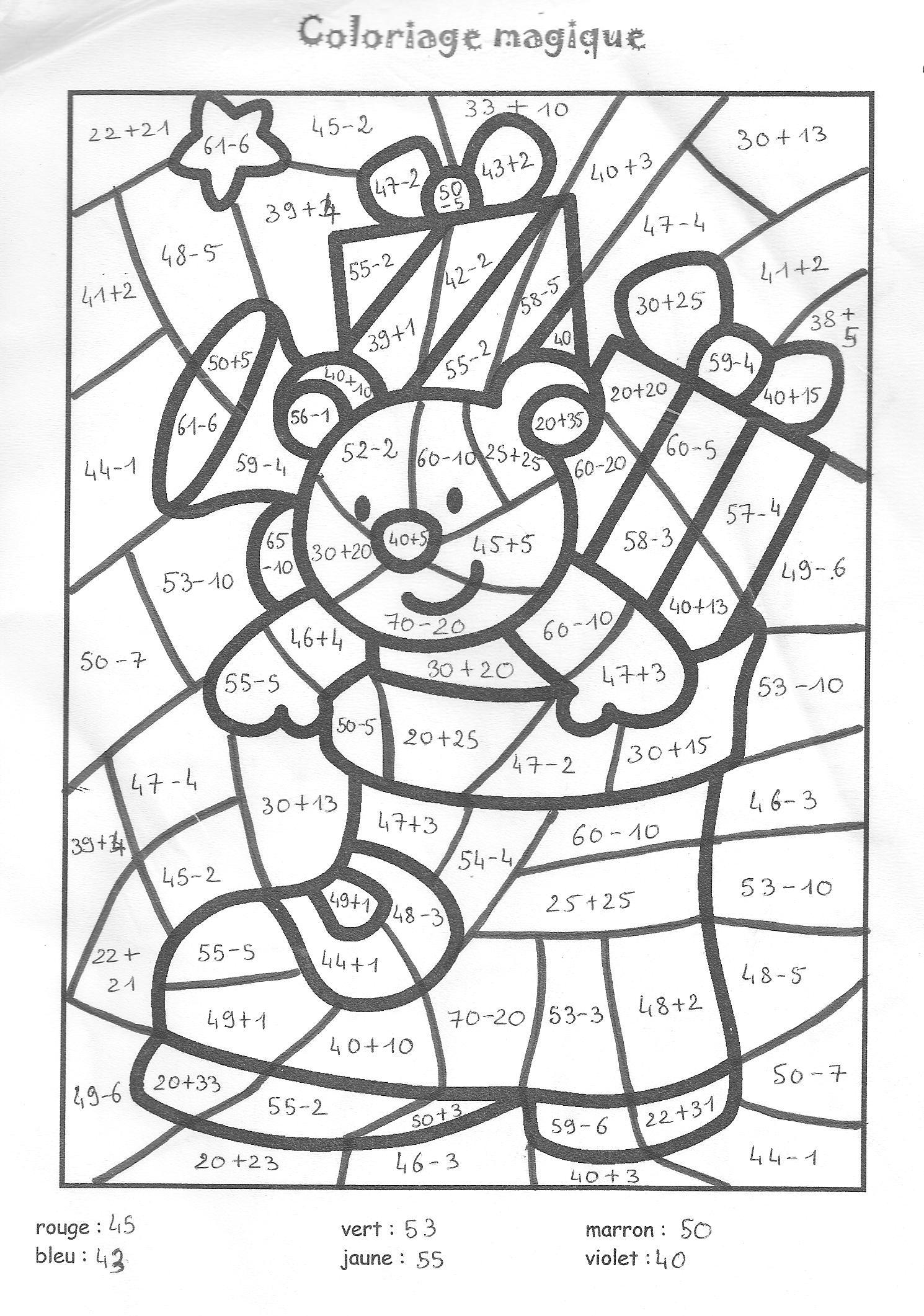 Coloriage204: Coloriage Magique De Noel À Imprimer pour Jeux Educatif Ce1 A Imprimer