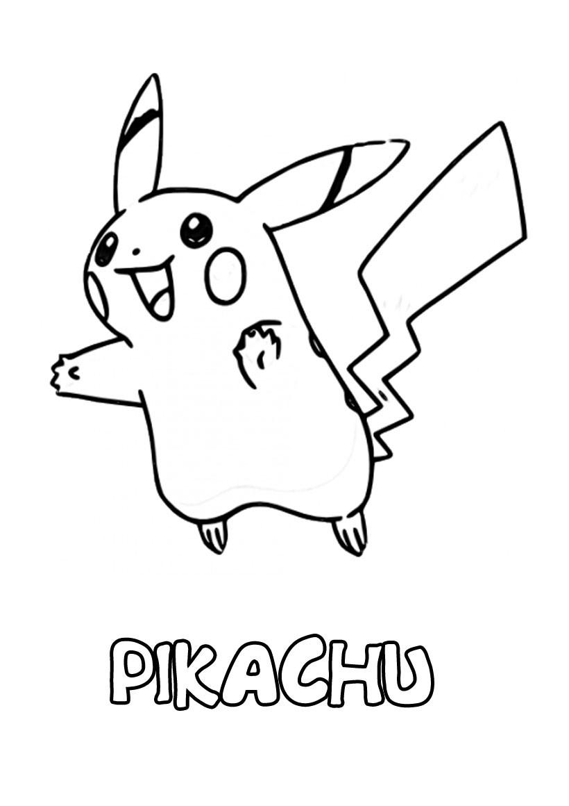 Coloriage204: Coloriage Pokemon Pikachu serapportantà Dessin De Pikachu Facile