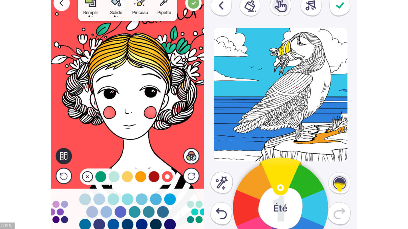 Coloriages: 3 Applications Pour Retrouver La Sérénité à Faire Coloriage Gratuit Sur Ordinateur