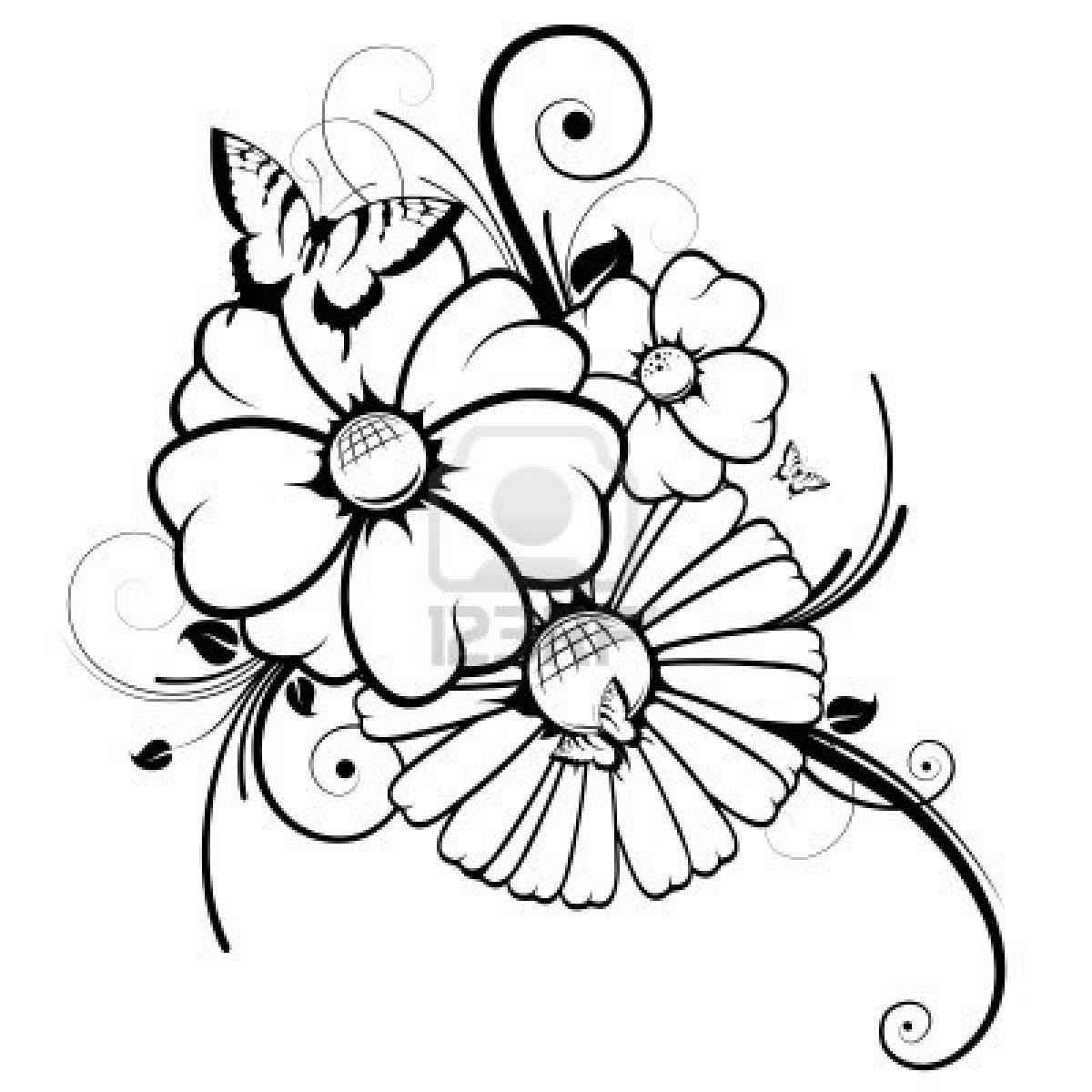Coloriages À Imprimer : Fleurs, Numéro : 224874 à Dessin A Colorier De Fleur