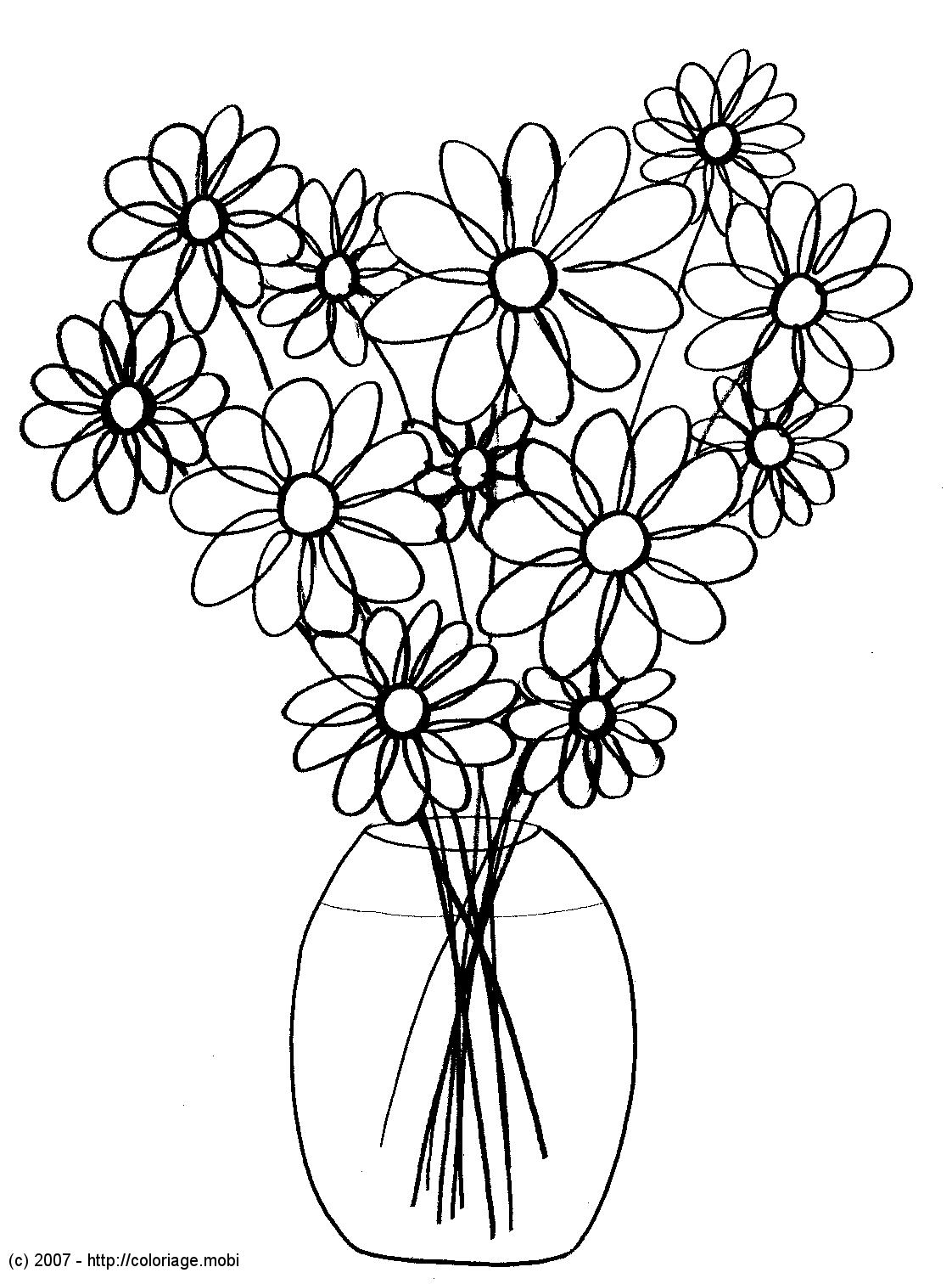 Coloriages À Imprimer : Fleurs, Numéro : 3121 destiné Dessin A Colorier De Fleur