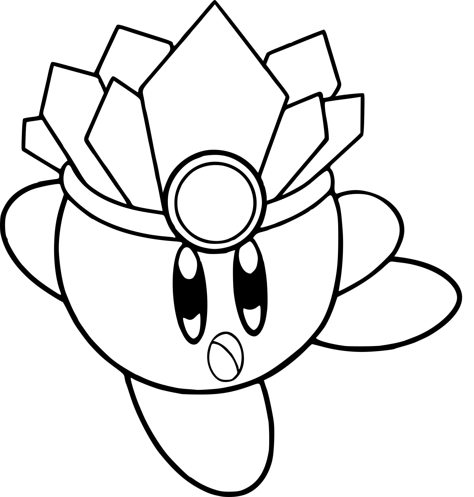 Coloriages À Imprimer : Kirby, Numéro : 430C9D1E concernant Coloriage Aspirateur