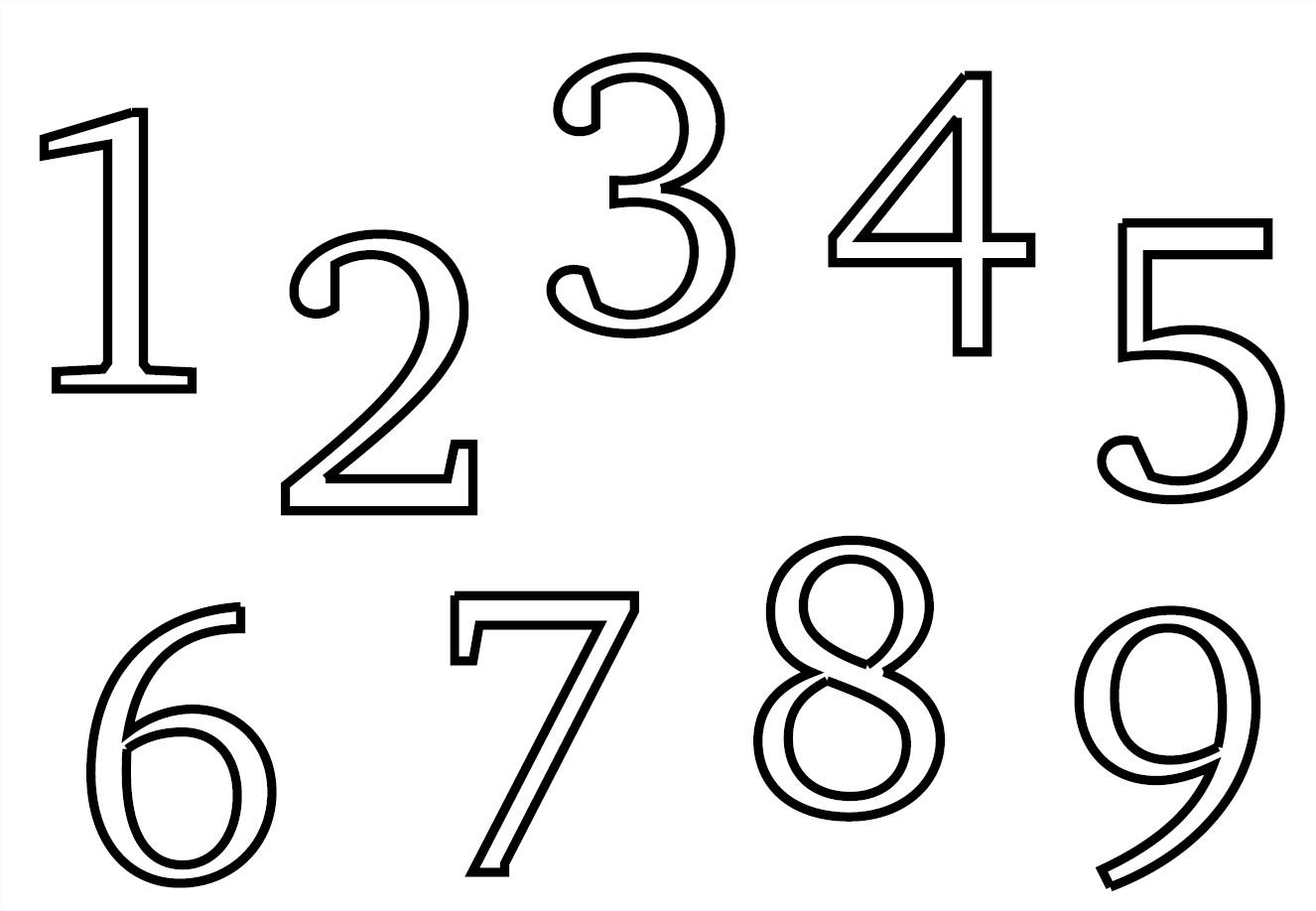 Coloriages À Imprimer : Tous Les Chiffres, Numéro : 754034 tout Coloriage Chiffres 1 À 10