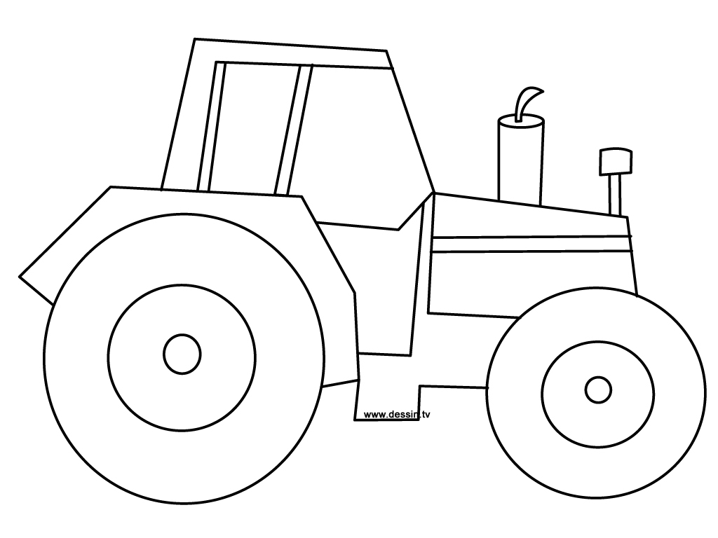 Coloriages À Imprimer : Tracteur, Numéro : 16984 concernant Dessin De Tracteur À Colorier
