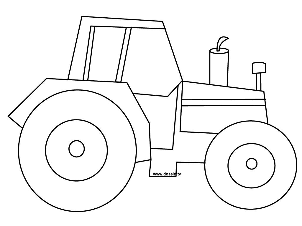 Coloriages À Imprimer : Tracteur, Numéro : 16984 pour Tracteur À Colorier