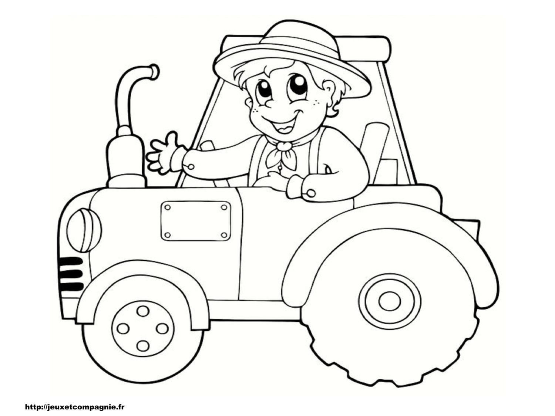 Coloriages À Imprimer : Tracteur, Numéro : 92F6C962 dedans Tracteur À Colorier