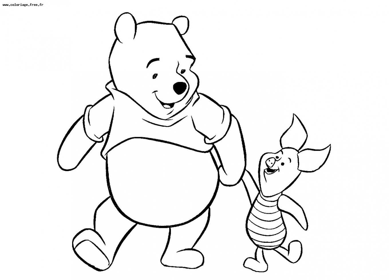 Coloriages À Imprimer : Winnie L'ourson, Numéro : Bc7C0Cd9 serapportantà Ourson A Colorier Et Imprimer