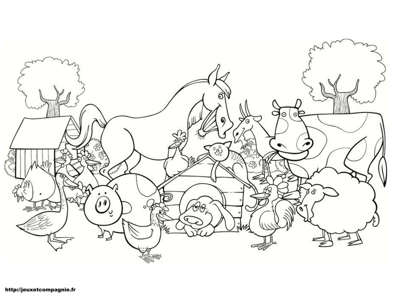 Coloriages Animaux De La Ferme | Coloriage Animaux De La destiné Dessin Animaux De La Ferme À Imprimer