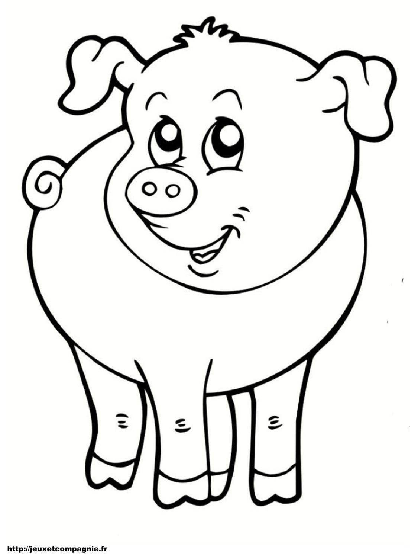 Coloriages Animaux De La Ferme destiné Animaux A Dessiner Imprimer