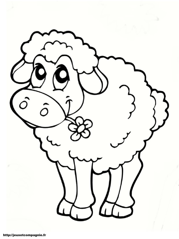 Coloriages Animaux De La Ferme destiné Dessin Animaux De La Ferme À Imprimer