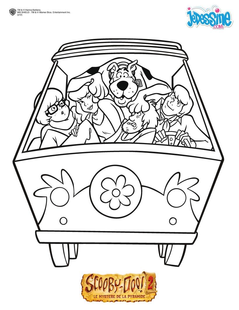 Coloriages Coloriage À Imprimer Scooby-Doo - Fr.hellokids avec Scooby Doo À Colorier