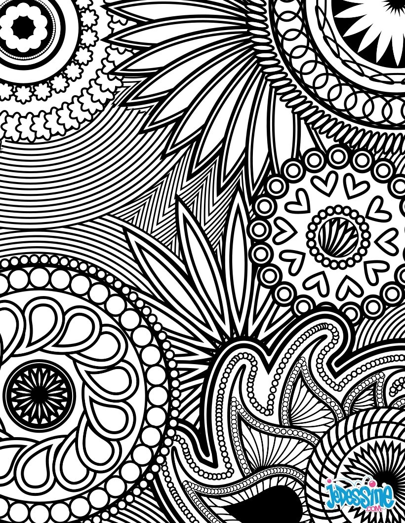 Coloriages Coloriage Anti-Stress - Fr.hellokids pour Jeux De Anti Stress